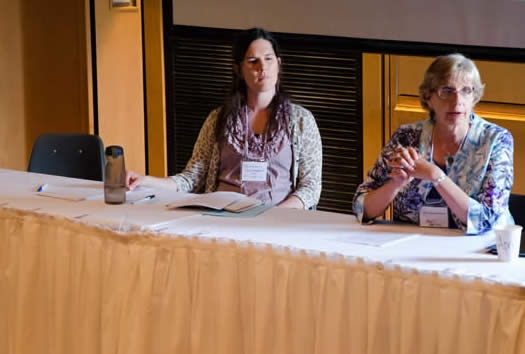 WRNC 2014 Panelists Tania Smethurst and April DeVoy