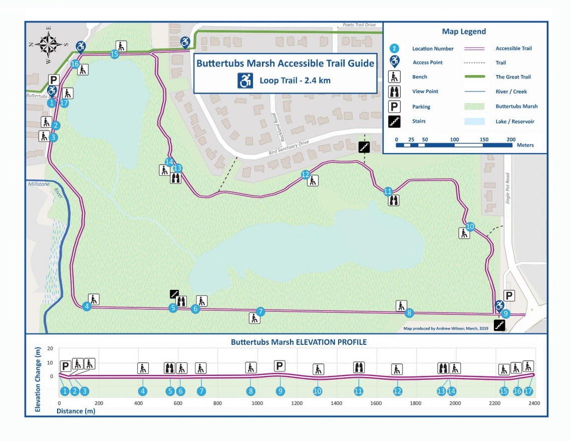 Buttertubs Accessibility Trail Map