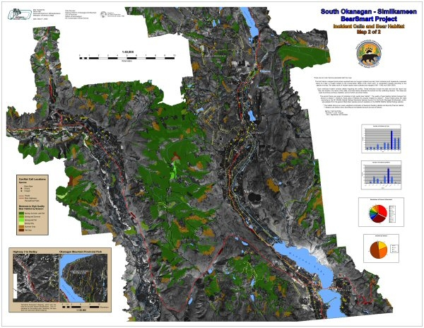 BearSmart Project: Incident Calls in Bear Habitat Map 2 Image